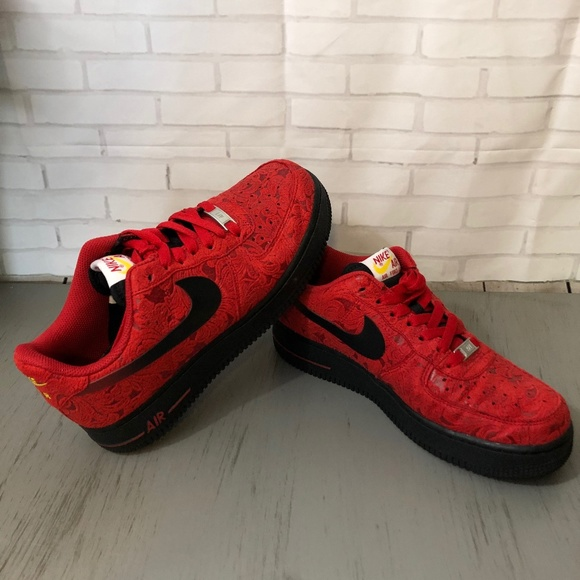 Nike Air Force University Red Paisley 7